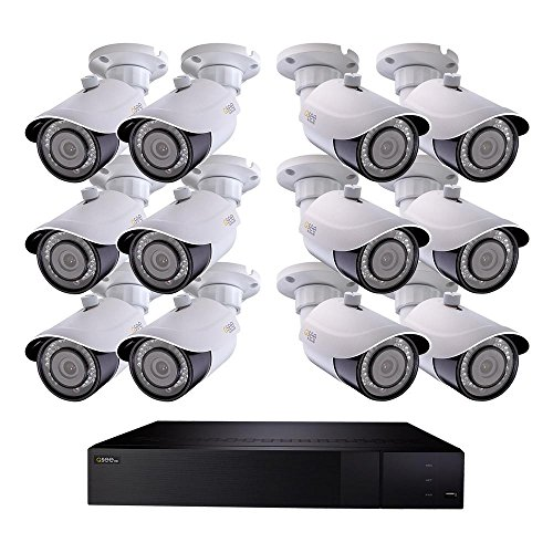 (Q-SEE 32-Channel 4K 3TB H.265 NVR Security Surveillance System with (12) 8MP IP Bullet Cameras)