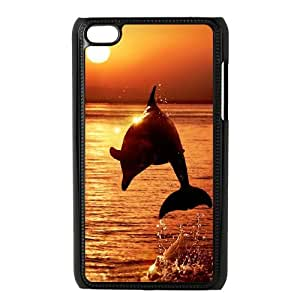 DDOUGS Dolphin at Sunset Customised Cell Phone Case for Ipod Touch 4, Wholesale Dolphin at Sunset Case