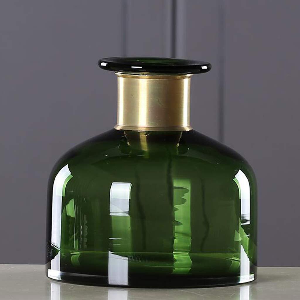 HBJP 透明ガラス花瓶装飾家庭用テーブルドライフラワー装飾花瓶グリーン 花瓶 (サイズ さいず : 9×18×18cm) B07S47YWT2  9×18×18cm