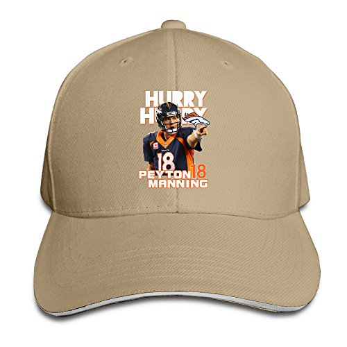 Mooy Peyton Manning Broncos Cycling Sandwich Cap Natural (5 Cases Ipod Sophie)