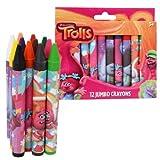 Trolls Jumbo Crayons, Assorted Colors, 12-Crayons