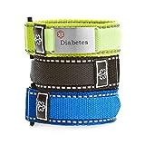StickyJ USA Adjustable Diabetes Sport Bracelet Pack for Men
