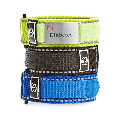 StickyJ USA Adjustable Diabetes Sport Bracelet Pack for Men by StickyJ