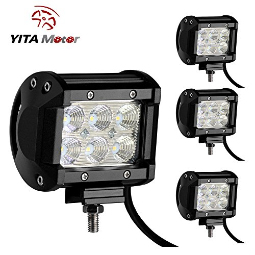 YITAMOTOR-4-PCS-18W-Dual-Row-LED-Light-Work-Flood-Beam-Driving-Fog-Offroad-SUV-4WD-Car-Truck