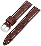 Hadley-Roma Men's MSM894RB-180 18-mm Brown Genuine Leather Watch Strap