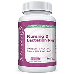 Lactation Supplement with Fenugreek Plus Blessed Thistle, Fennel Seed, & Marshmallow Root by Mother's Select - Dairy, Soy, Gluten Free Breastfeeding Capsules - More Breast Milk Supply Pills - Nursing Postnatal Vitamin - Herbal Rapid Increase Formula