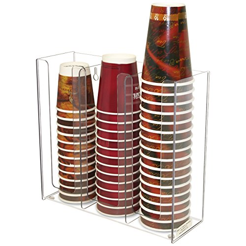 Coffee Cup and Lid Holder 3 Columns. Proudly Made by PPM is the USA! by Plastic & Products Marketing PPM