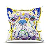 Kess InHouse Rebecca Fischer Niko French Bulldog Outdoor Throw Pillow, 20 by 20-Inch