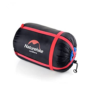 Nylon ligero resistente al agua de compresión saco de dormir bolsa de negro