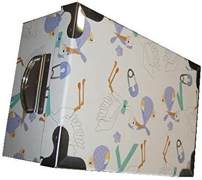 VilyS House-Set De 6 Cajas Cartón Decoradas Cigüeña Azul: Amazon ...