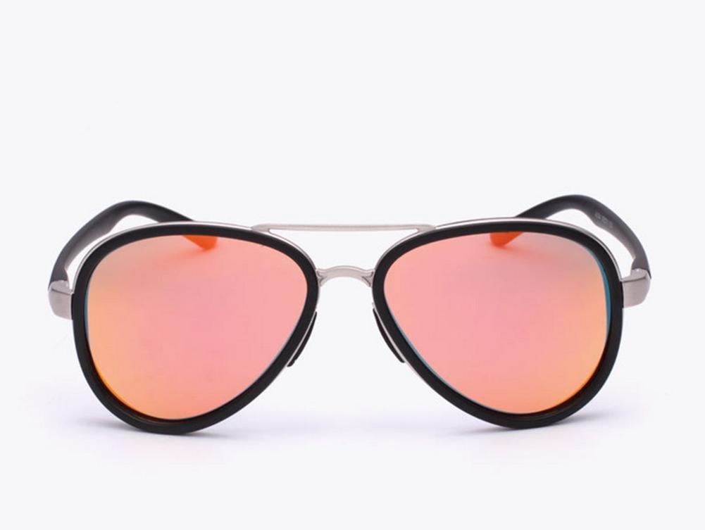 DZW Moda Masculina Polarized Gafas De Sol Gradient Polarized Mirror True Color Film , pink