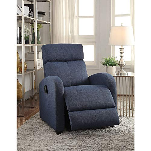 Acme Furniture 59347 Concha Recliner with Power Lift, Blue F