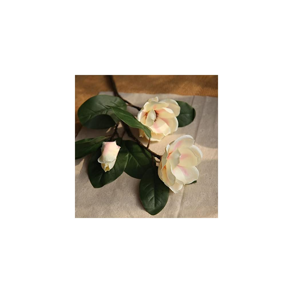 Icocol-Artificial-Fake-Magnolia-Floral-Flowers-Leaf-Wedding-Bouquet-Party-Home-Decor-Art-Beige