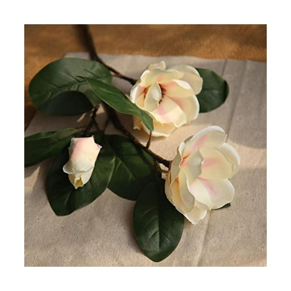 Icocol-Artificial-Fake-Magnolia-Floral-Flowers-Leaf-Wedding-Bouquet-Party-Home-Decor-Art-Beige