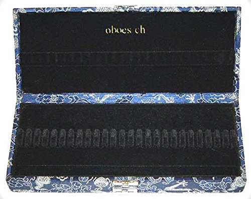 50-Reed Oboe Reed Case Silk (Blue/Silver)