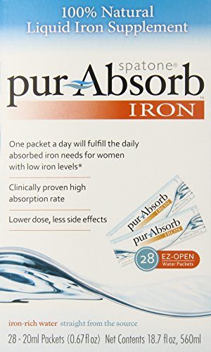 Spatone Pur-absorb Iron, 28ct-20ml packets(0.67fl oz.) net contents 18.7 oz, 560ml