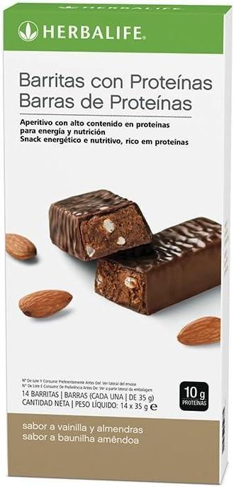HERBALIFE BarrItas proteínas - Vainilla y almendras 14 uds: Amazon.es: Salud y cuidado personal