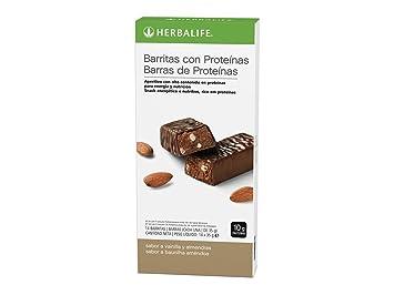 Barritas con proteinas (Vainilla con Almendras): Amazon.es: Salud y cuidado personal