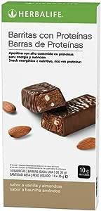 HERBALIFE BarrItas proteínas - Vainilla y almendras 14 uds