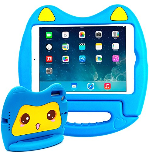 SIMPLEWAY iPad Mini 1 / iPad Mini 2 / iPad Mini 3 case,Kids Friendly Light Weight Handle Convertible Stand Cover Case Compatible with Apple iPad Mini 1/2/3 Tablet,Blue (Difference Between Ipad Mini 1 And 2)