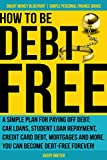 How to Be Debt Free: A simple plan for paying off debt: car loans, student loan repayment, credit card debt, mortgages and more. Debt-free living is...