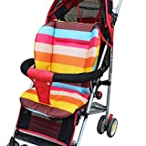 Baby Stroller Cushion Padding Liner Carriage Umbrella Cart Trolley Rainbow Seat Pad Thickening