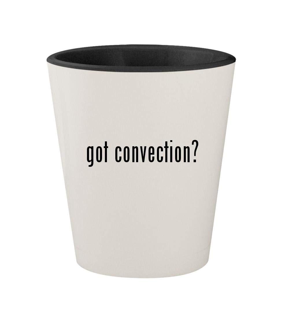 got convection? - Ceramic White Outer & Black Inner 1.5oz Shot Glass