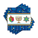 amscan Joyous Menorah Celebration Luncheon Napkins