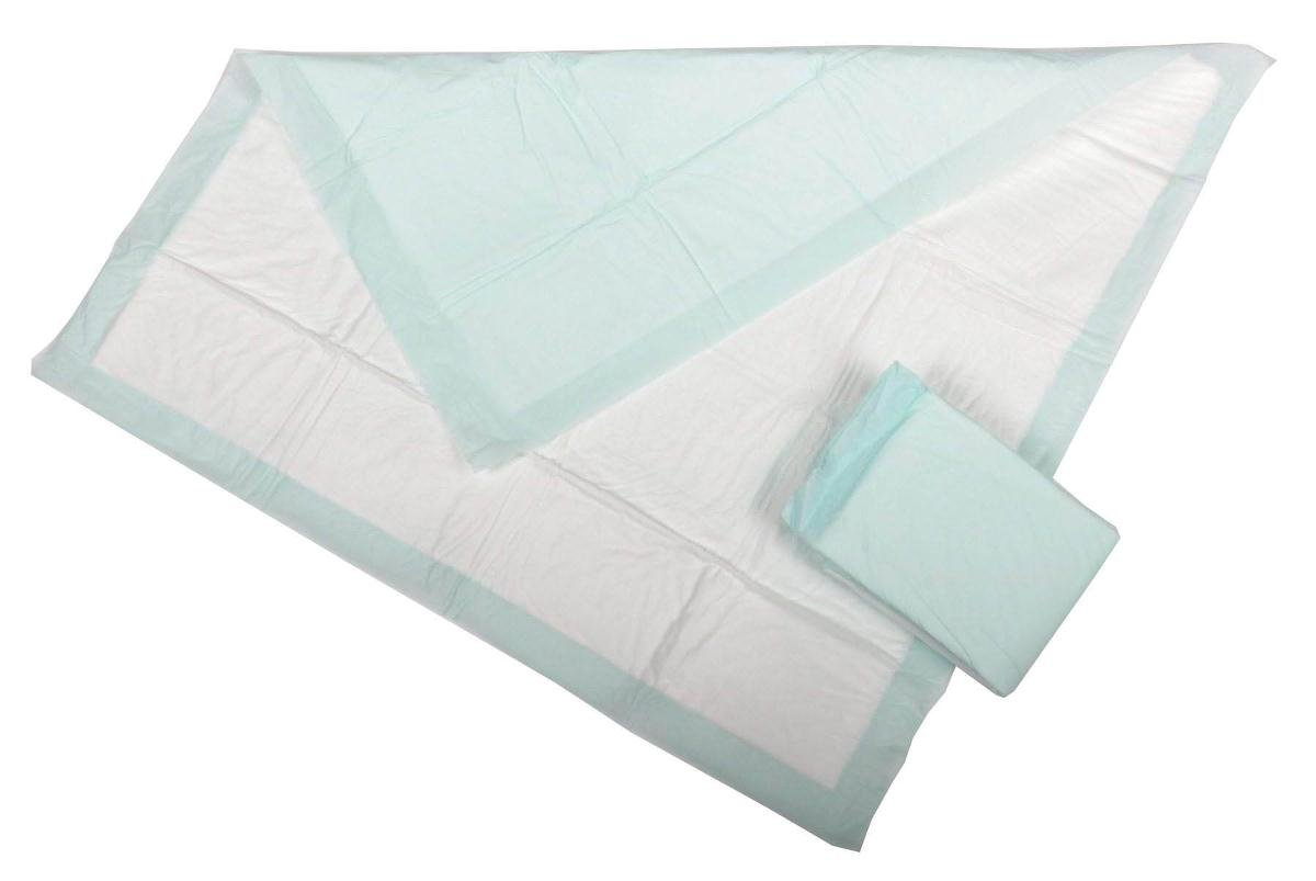 Medline Heavy Absorbency 30'' x 36'' Fluff and Polymer Disposable Underpads, 100 Per Case, Great for Protecting Beds, Furniture, Surfaces