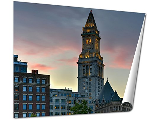 Ashley Giclee Fine Art Print, The Custom House Tower Boston Massachusetts, 16x20, - Boston Where Is Downtown