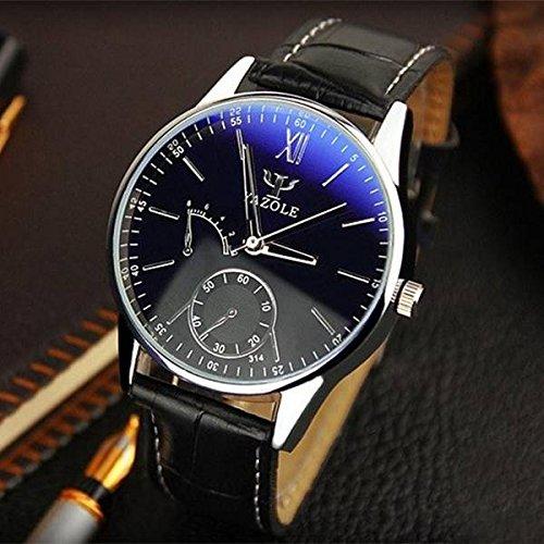 mark8shop yazole 314 Casual Business números romanos cuero PU banda reloj