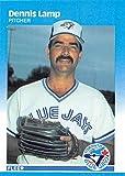 1987 Fleer Glossy #233 Dennis Lamp Toronto Blue Jays