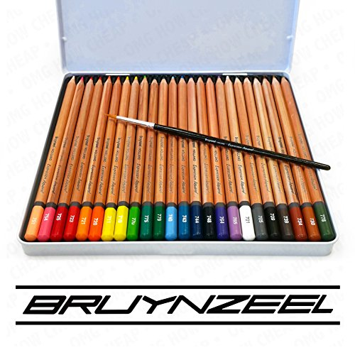 Bruynzeel - Expression Aquarel - Tin of 24 Artist Watercolour Pencils with 2.9mm Cores