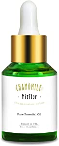 Chamomile Essential Oil, Mitflor Pure Organic Aromatherapy Therapeutic Grade Chamomile Oil Gift for Diffuser for Home Massage, 30ml