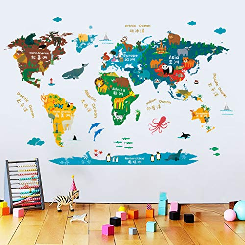Iulove PVC Wall Stickers for Bedroom Living Room Wall Decorations for Kids Boys and Gir -