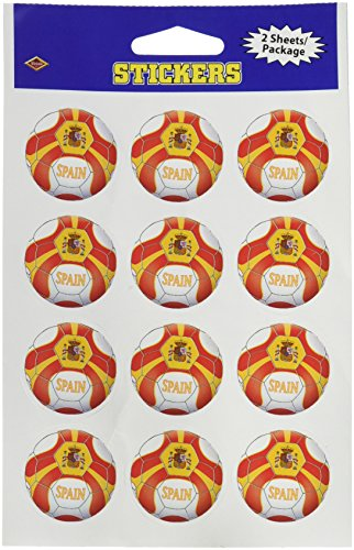 Beistle 2-Pack Stickers, 4-Inch by 6-Inch, Spain