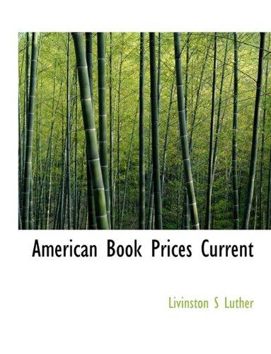 Read Online American Book Prices Current pdf epub