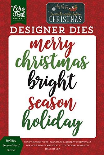 Echo Park Paper Company Holiday Season Word Die Set (Park Die Cuts)