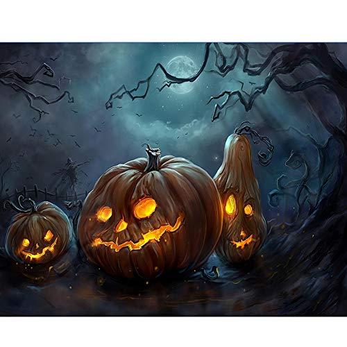 lightclub Spooky Halloween Pumpkin Grave Full Diamond Painting DIY Wall Cross Stitch Decor Q1361 -