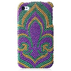 WQQ A Flower Bling Case PC Hard Case for iPhone 4/4S