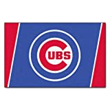 FANMATS MLB Chicago Cubs Nylon Face 4X6 Plush Rug