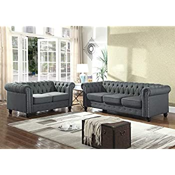 Amazon.com: Container Furniture Direct S5374-2PC Kitts ...