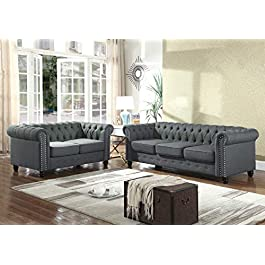 Best Master Furniture YS001 Venice 2 Piece Upholst...