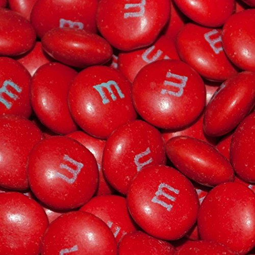 Red Candy 2lb M&Ms - (Free Cold Pack) Milk Chocolate Red Candy for Candy Buffet