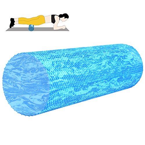 Runacc Rouleau de mousse Muscle Roller Rouleau de yoga avec sac de transport, convient pour la thérapie physique, Pilates, yoga et massage Therapy, Violet