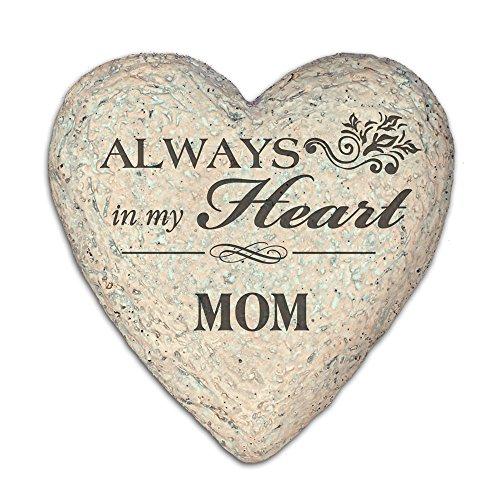 GiftsForYouNow Engraved Memorial Heart Garden Stone for Mom ()
