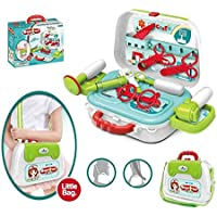 Gooyo 2 in 1 Children Doctor Pretend Play Kids Toys Set with Carry Bag Role Play Toy for Kids/Girls/Boys