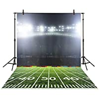 Allenjoy Polyester 5x7FT Photography Backdrops Night Outside Rugby American Football Boys Sports Background for Photo Studio Shooting Children Photobooth