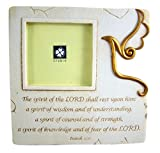 Confirmation Resin Tabletop Picture Frame with Holy Spirit Cut Out, 7 1/8 Inch