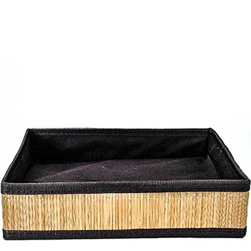 Bamboo Basket – L (Set of 10) 17 x 14 x 4 in by suppliesforgiftbasket (Image #1)